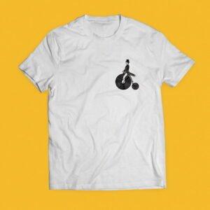 Vinyl Frame wit t-shirt met logo