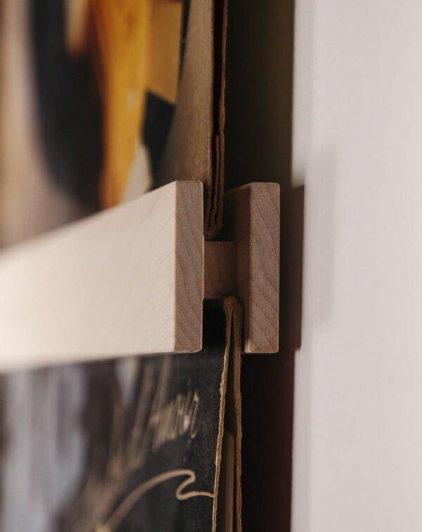 Vinyl Frame Maple closeup zijkant gemaakt door Hannah Bruijnzeel