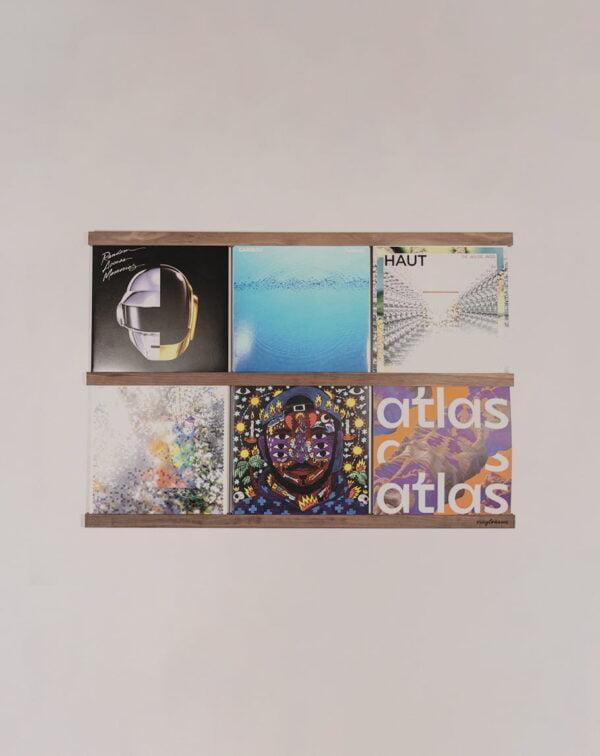 Vinyl Frame Walnut totaal gemaakt door Hannah Bruijnzeel