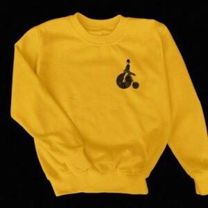 VinylFrame originale gele sweater ontwerp voor plus achterkant